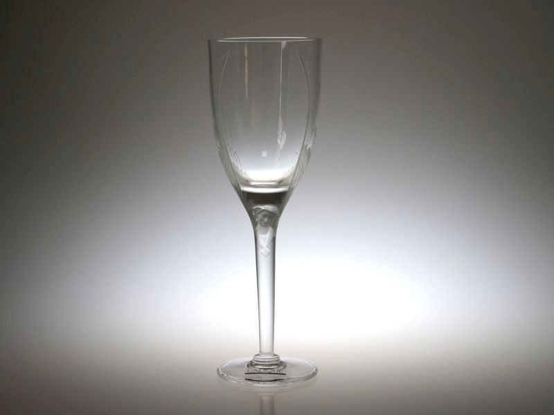 ラリック グラス ● アンジュ シャンパンフルート 天使 羽 エンジェル 20.5cm Ange