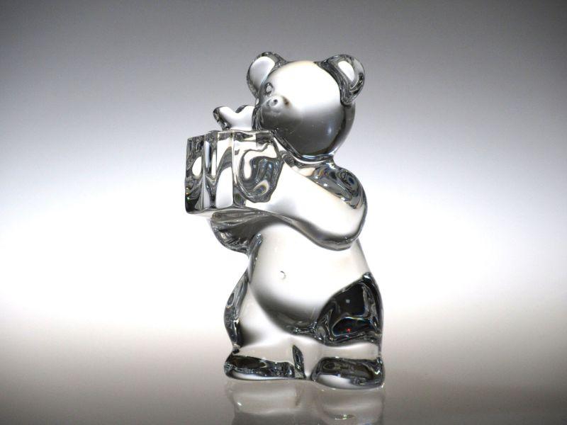 バカラ フィギュリン ● 置物 クマ プレゼント ベアー 熊 くま クリスタル 箱付 未使用品