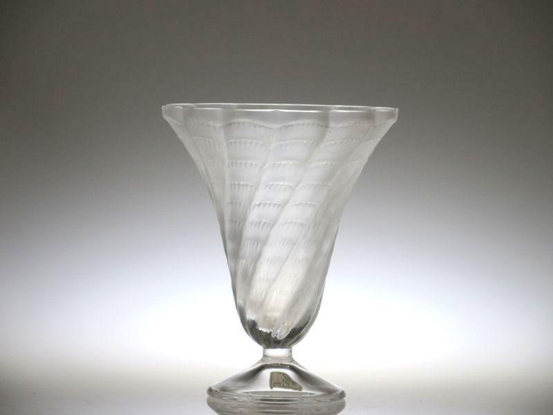 ラリック 花瓶 ● ルシエ フラワーベース ヴェース フロステッド クリスタル Lucie