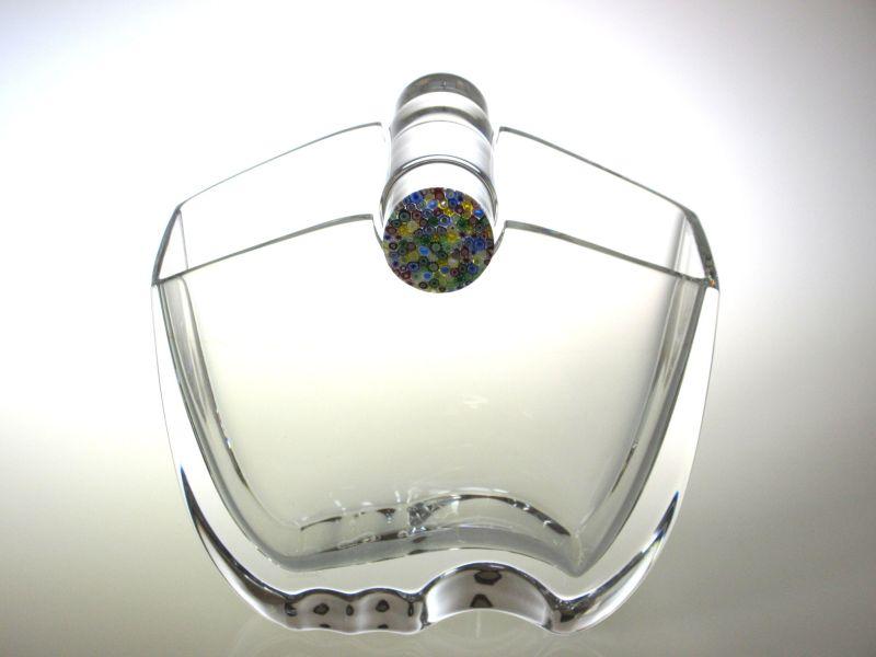 バカラ 花瓶 ● オセアニア フラワーベース ヴェース クリア クリスタル 万華鏡 飾り蓋 Oceania