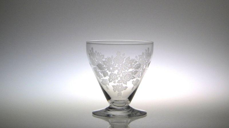 バカラ グラス ● ウォーターゴブレット サンドブラスト 花柄 フラワー ヴィンテージ クリスタル 希少