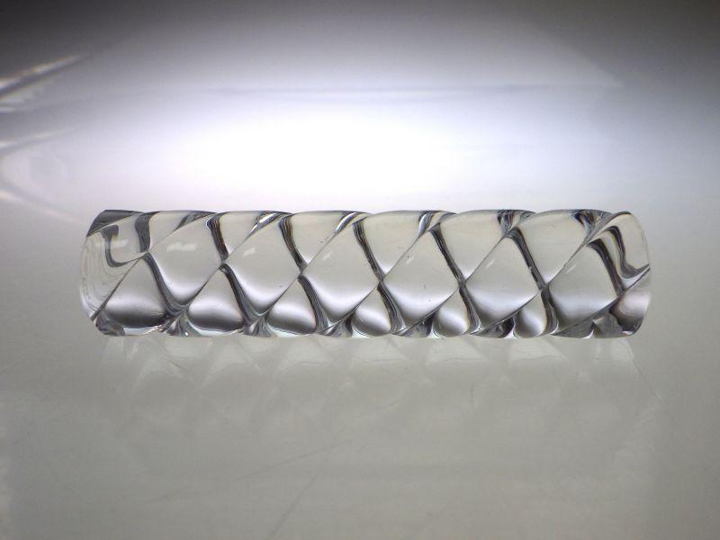 バカラ ナイフレスト ● 箸置き ツイスト クリスタル カトラリー レスト クリア 透明 Knife Rest