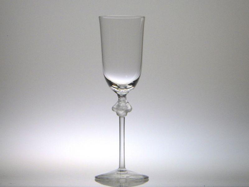ラリック シャンパングラス ● ロクサーヌ シャンパンフルート クリスタル ぶどう 葡萄 天使 薄手 Roxanne