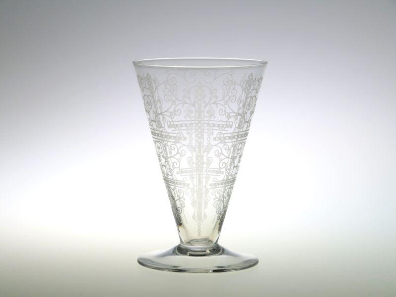 バカラ グラス ● リド ワイン グラス エッチング ヴィンテージ 10cm Lido
