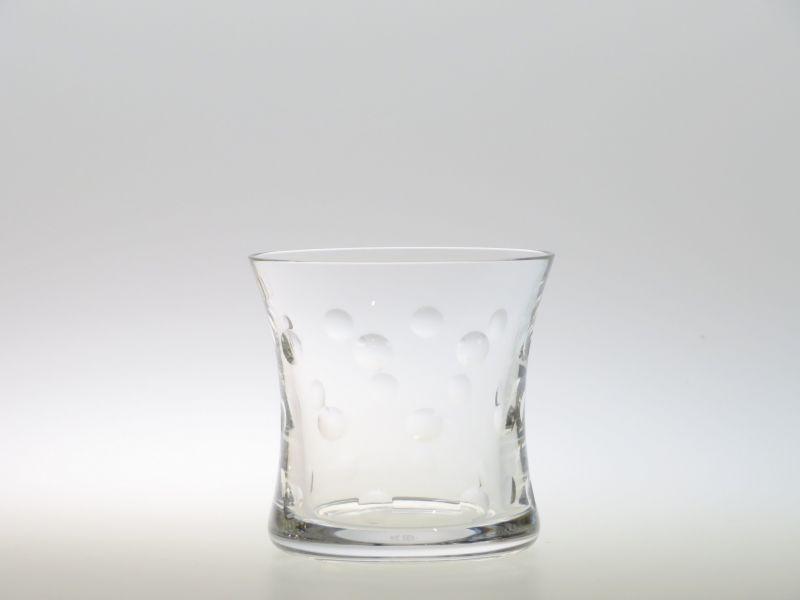 サンルイ グラス ● バブルス ロック グラス オールドファッションド 水玉 クリスタル 9cm Bubbles