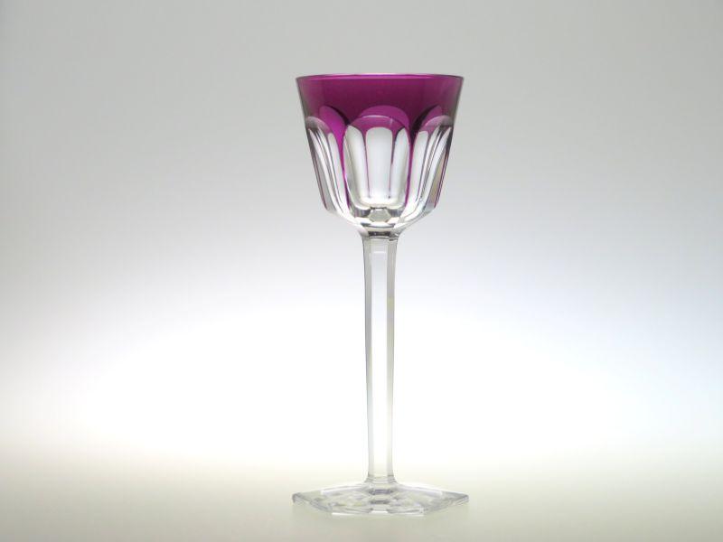 バカラ グラス ● アルクール ホックワイン 紫 パープル 被せガラス クリスタル 19cm