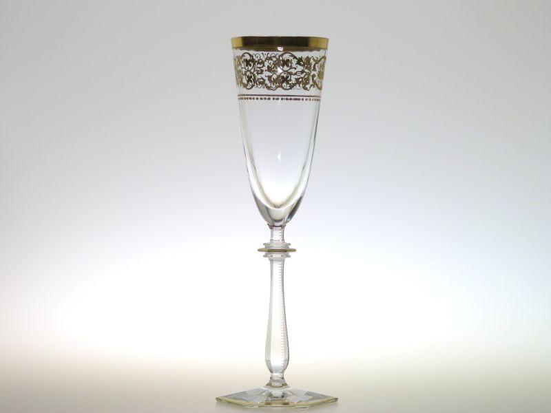 バカラ シャンパングラス ● リヴォリ シャンパンフルート 金彩 22cm Rivoli