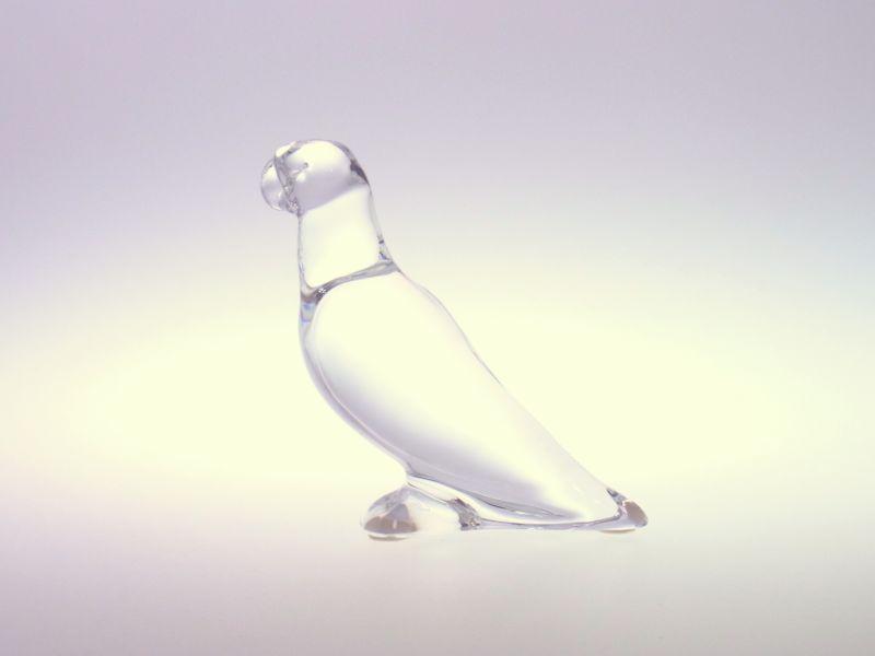バカラ フィギュリン ● オウム オーナメント オブジェ 置物 クリスタル Parrot