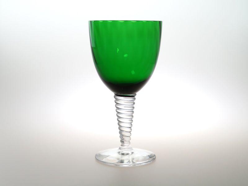 サンルイ グラス ● ツァリーヌ ワイン グラス グリーン 緑 エメラルド ツイスト ねじれ Tsarine 希少