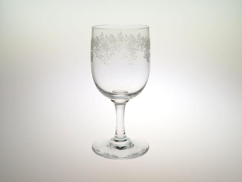 オールド バカラ グラス ● セビーヌ ワイン グラス 11cm エッチング アンティーク Sevigne