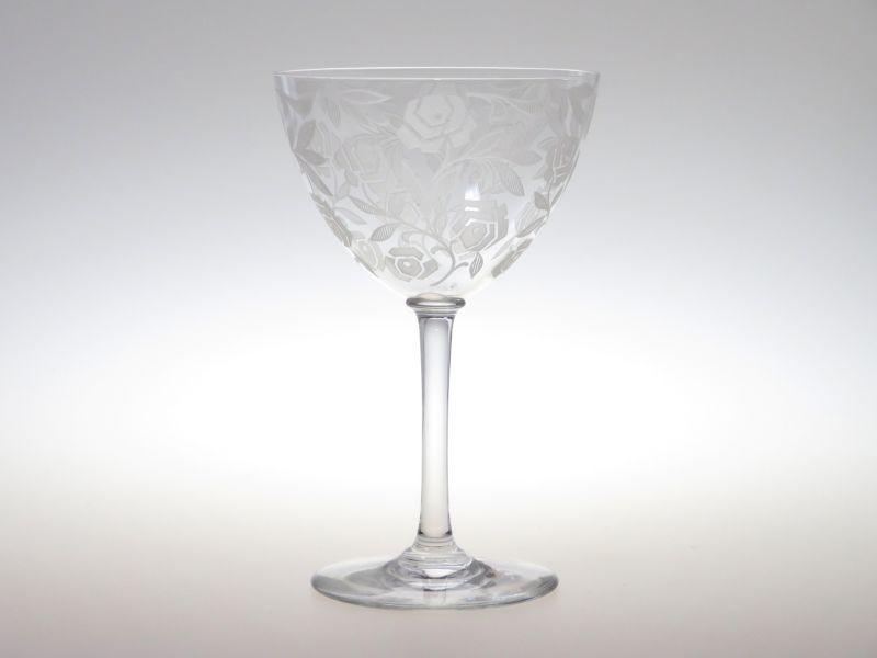 オールド バカラ グラス ● シュバリエ ローズ フォントネー ワイン グラス ロングステム バラ 薔薇 Fontenay Rose