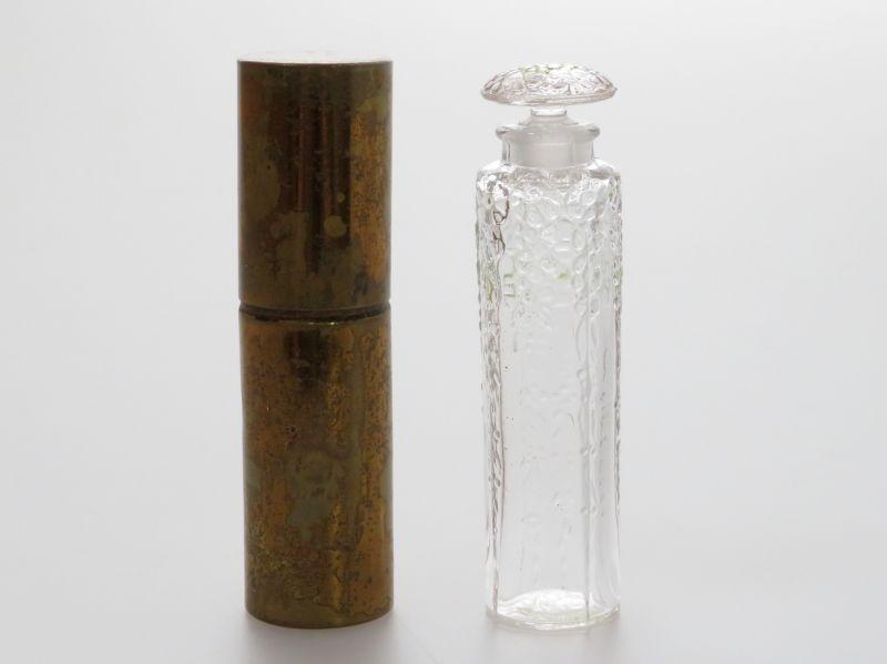 アンティーク ラリック 香水瓶 ● シプレー ケース付 パフュームボトル フォルヴィル フォービル FORVIL トラベル用 少し訳あり Chypre