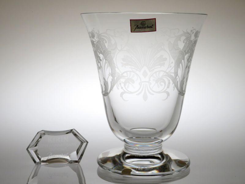 バカラ 花瓶 ● キリンコレクターズ フラワー ベース ヴェース 記念ネームプレート 1987年 限定品 箱付き