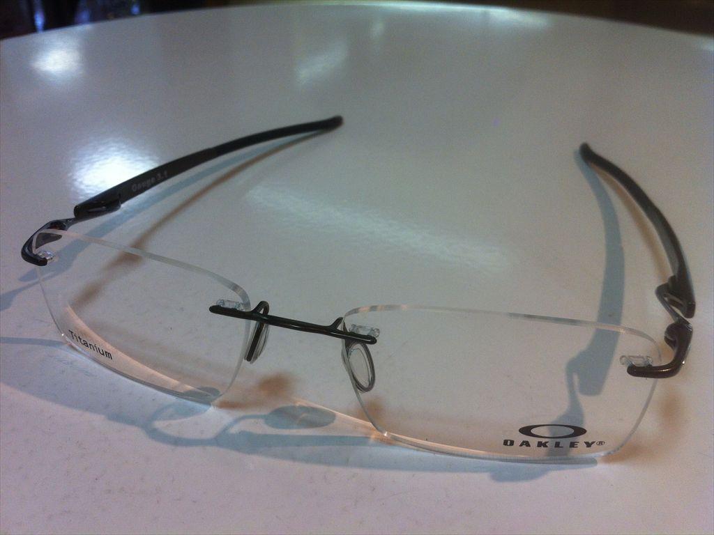 OAKLEY(オークリー)Gauge3.1(ゲージ3.1)OX5126-0254(ピューター) 54サイズメガネフレーム(ツーポイントフレーム)縁なしメガネ有名ブランドメガネフレーム