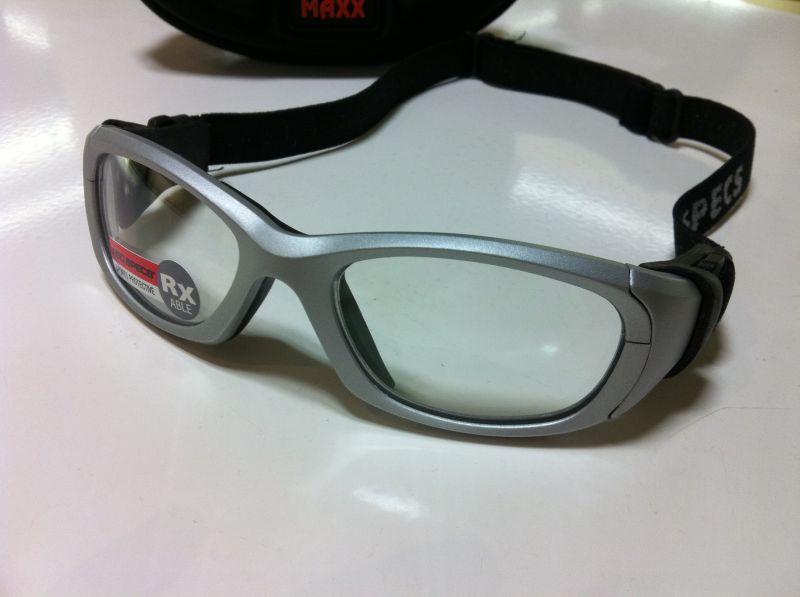 REC SPECS(レックスペックス)子ども用スポーツメガネMX-31 SHINY SILVER(シャイニーシルバー)53サイズ