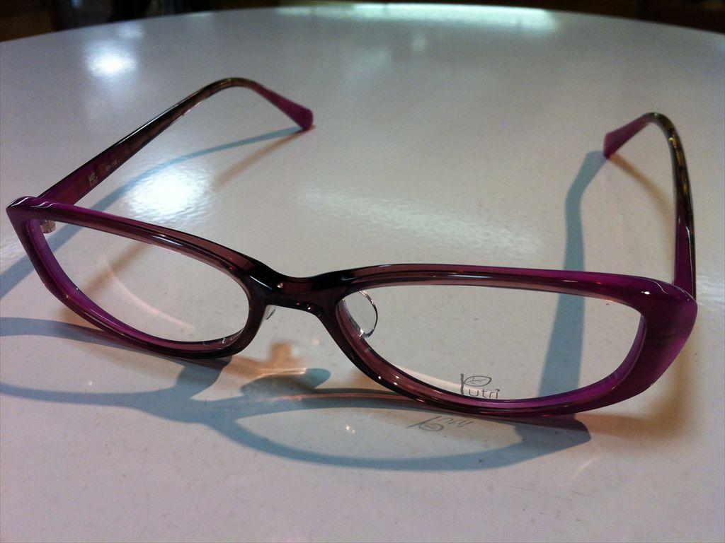 Putri(プトゥリ)メガネフレーム(セルフレーム)高品質日本製メガネフレームEP-119 2(ピンク/パープル) 52サイズ