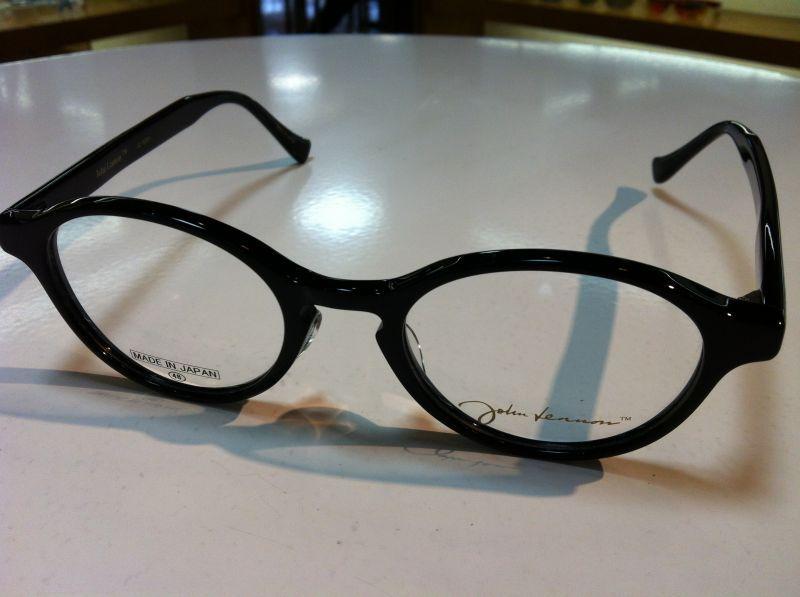 John Lennon(ジョン・レノン)丸型メガネメガネフレーム(セルフレーム)JL-6001 1(ブラック) 48サイズ