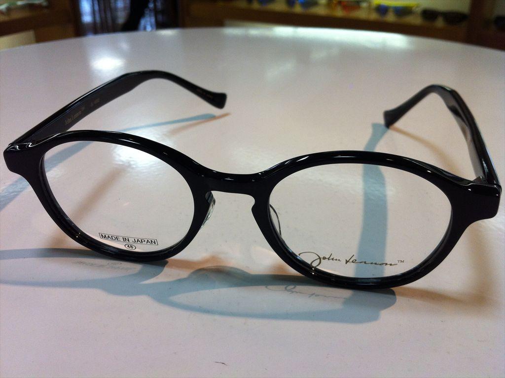 John Lennon(ジョン・レノン)丸型メガネメガネフレーム(セルフレーム)JL-6002 1(ブラック) 48サイズ