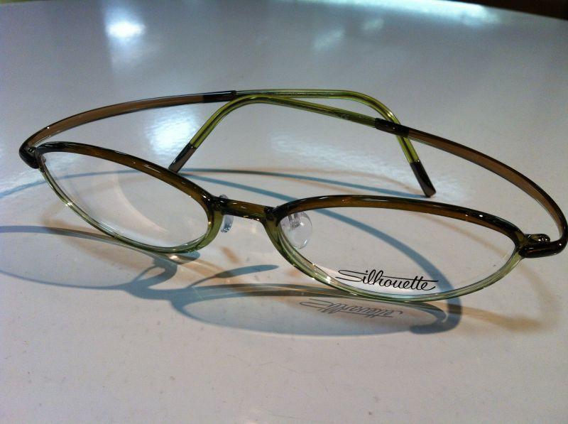 Silhouette(シルエット)SPX ART FULLRIM(SPXアートフルリム)メガネフレーム(セルフレーム)超軽量メガネSPX 1557 01 6051(グリーン/ブラウン)49サイズ