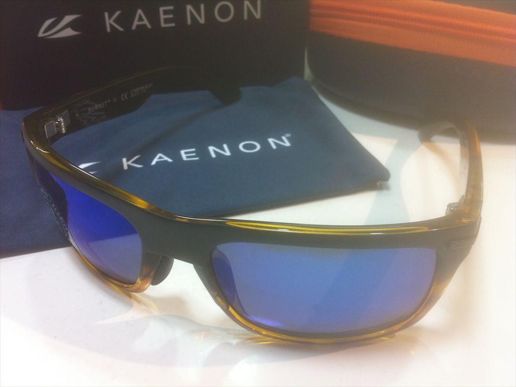 KAENON(ケーノン)BURNET(バーネット)017-MBTOBK-BLUE(MATTE BLACK/TORTOISE)サングラス偏光レンズ搭載