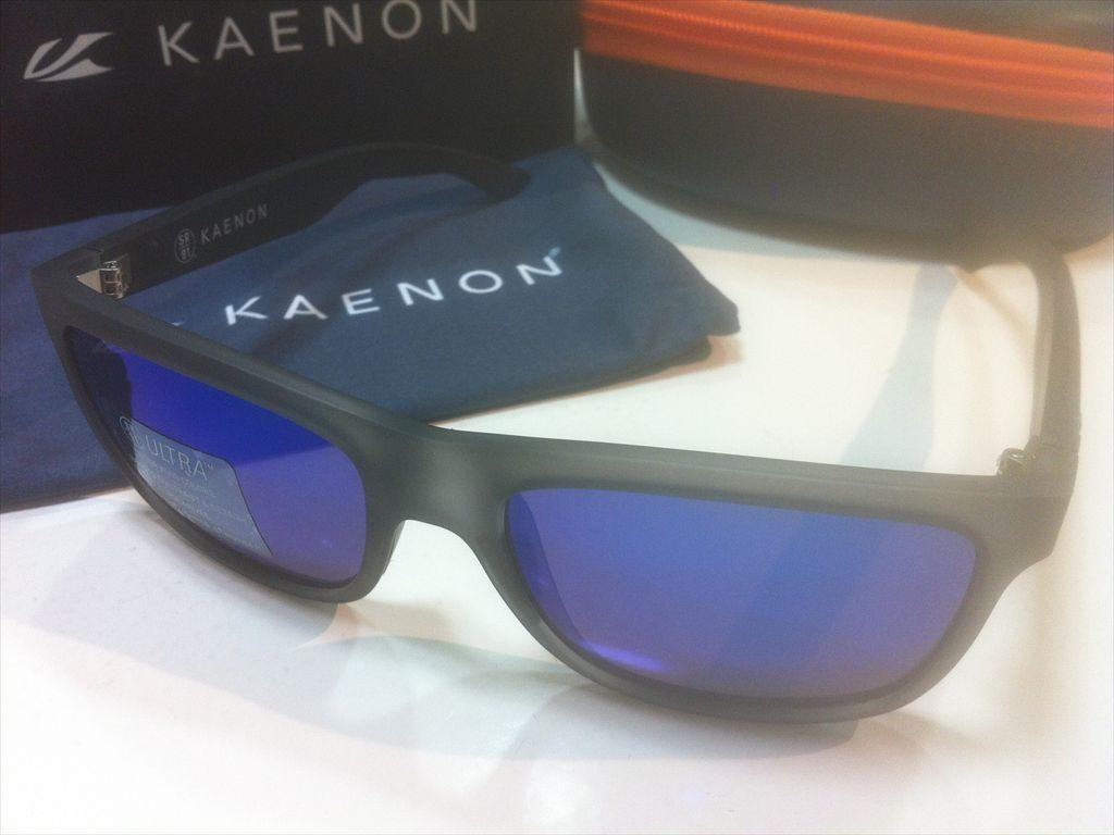 KAENON(ケーノン)CLARKE(クラーク)028-CNMGBK-UBLU(Carbon Matte Grip)サングラス偏光レンズ搭載