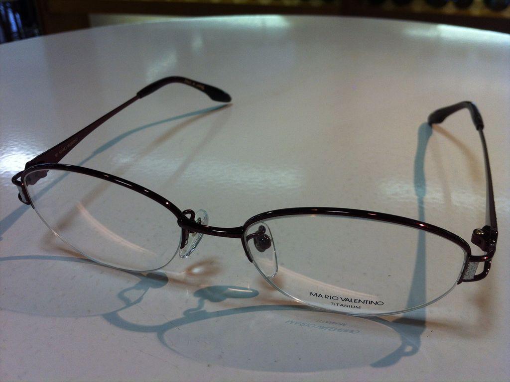 MARIO VALENTINO(マリオ・ヴァレンティーノ)婦人用メガネ高品質日本製メガネフレームメガネフレーム(ナイロールフレーム)MV-736 4(レッド) 51サイズ