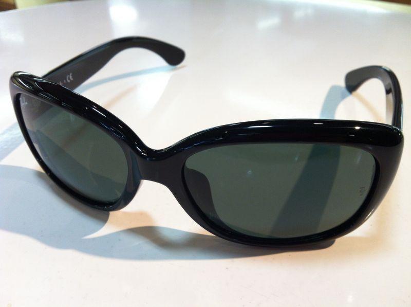 58サイズ OHH(ジャッキーオー)レイバンサングラス(セルフレーム)有名ブランドサングラスRB4101F Ray Ban(レイバン)JACKIE 601/71(ブラック)