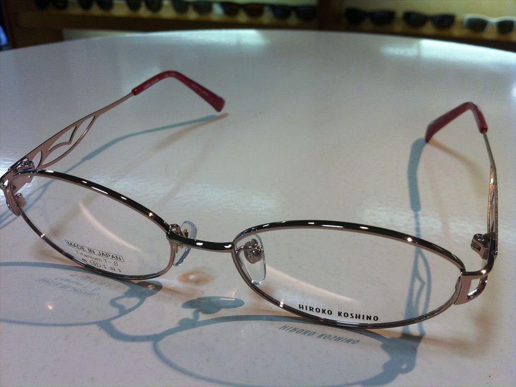 HIROKO KOSHINO(ヒロコ・コシノ)メガネフレーム(メタルフレーム)高品質日本製メガネフレーム有名ブランドメガネフレームHK1122 2(ピンク) 51サイズ