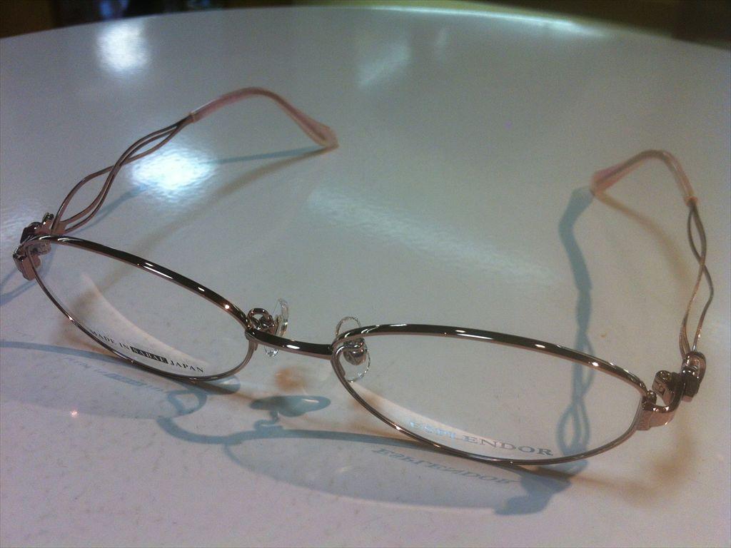 ESPLENDOR(エスプレンドール)EP-1410 01(ピンク) 53サイズメガネフレーム(メタルフレーム)高品質日本製メガネフレーム