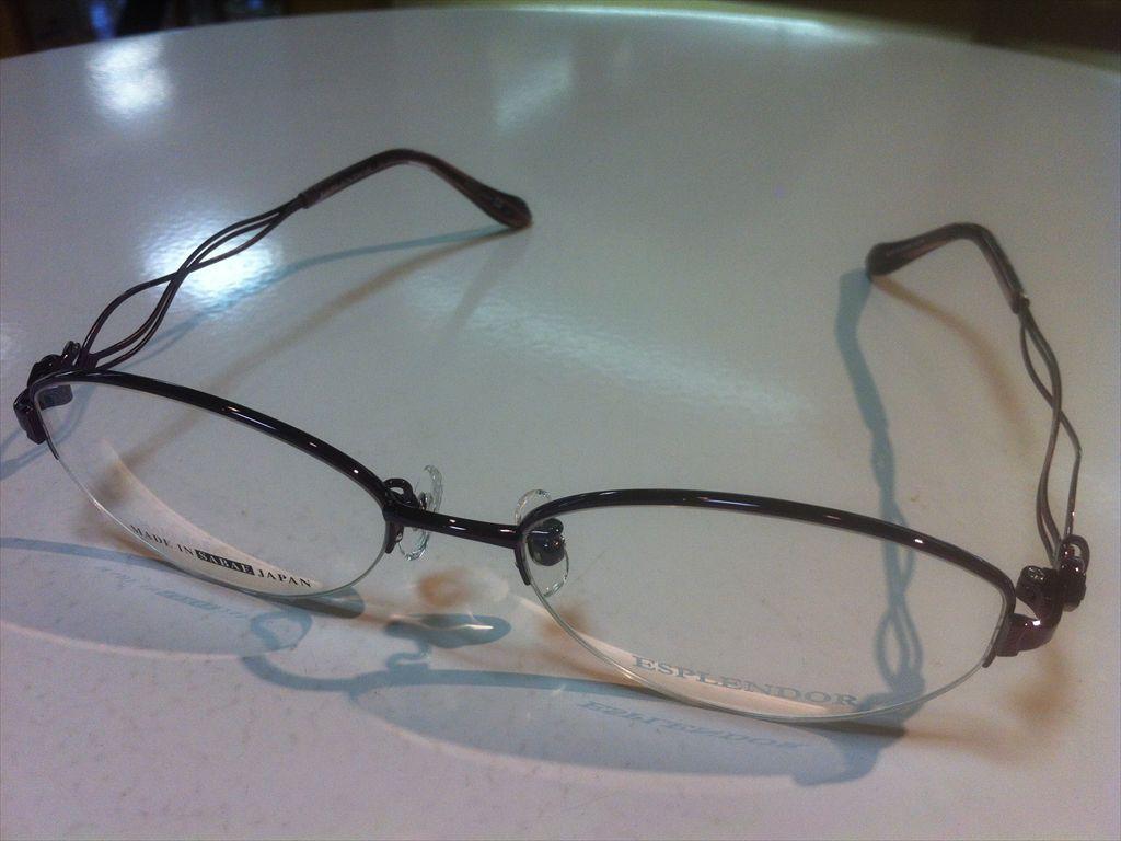 ESPLENDOR(エスプレンドール)EP-1411 03(パープル) 53サイズメガネフレーム(ナイロールフレーム)高品質日本製メガネフレーム
