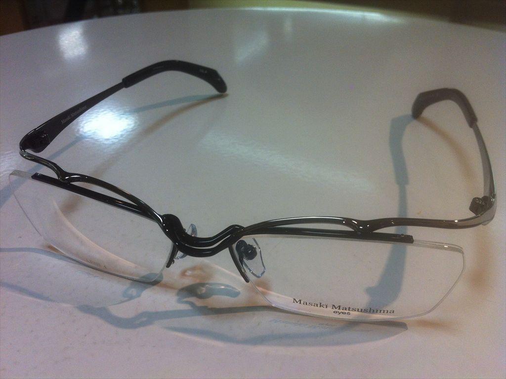 Masaki Matsushima(マサキマツシマ)MF-1213 4(ブラック/グレー)57サイズメガネフレーム(ナイロールフレーム)高品質日本製メガネフレーム有名ブランドメガネフレーム