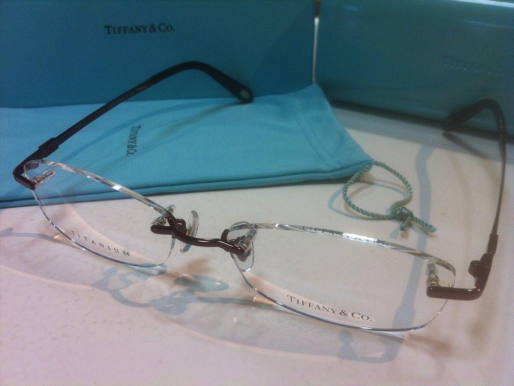 TIFFANY&CO.(ティファニー)TF1128TD 6015(ワインレッド系) 53サイズメガネフレーム(ツーポイントフレーム)縁なしメガネ高品質日本製メガネフレーム有名ブランドメガネフレーム