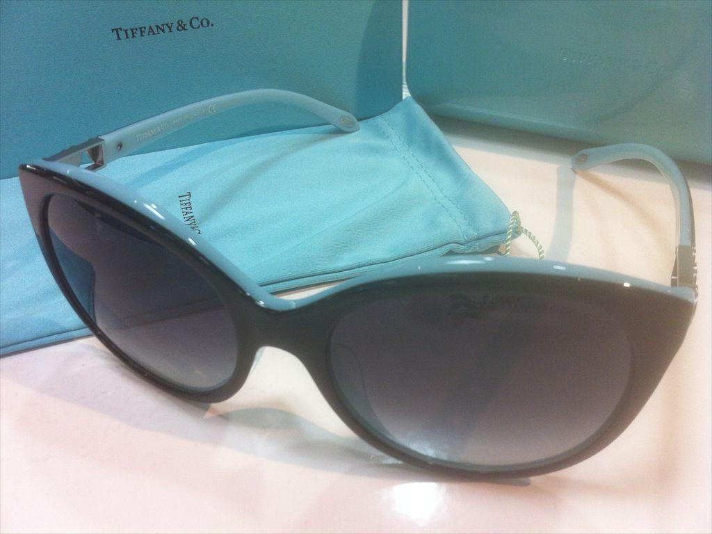 TIFFANY&CO.(ティファニー)TF4133-F 8055/3C(ブラック/シルバー/ティファニーブルー)56サイズサングラス(セルフレーム)有名ブランドサングラス
