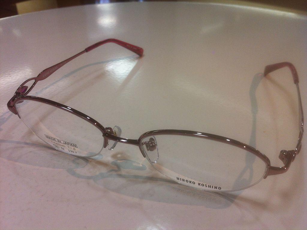 HIROKO KOSHINO(ヒロコ・コシノ)HK1129 1(ローズピンク) 50サイズメガネフレーム(ナイロールフレーム)高品質日本製メガネフレーム有名ブランドメガネフレーム
