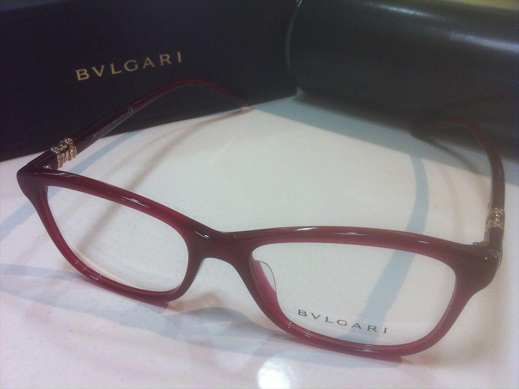 BVLGARI(ブルガリ)BV4133BF 5333(レッド/ゴールド)54サイズメガネフレーム(セルフレーム)有名ブランドメガネフレーム
