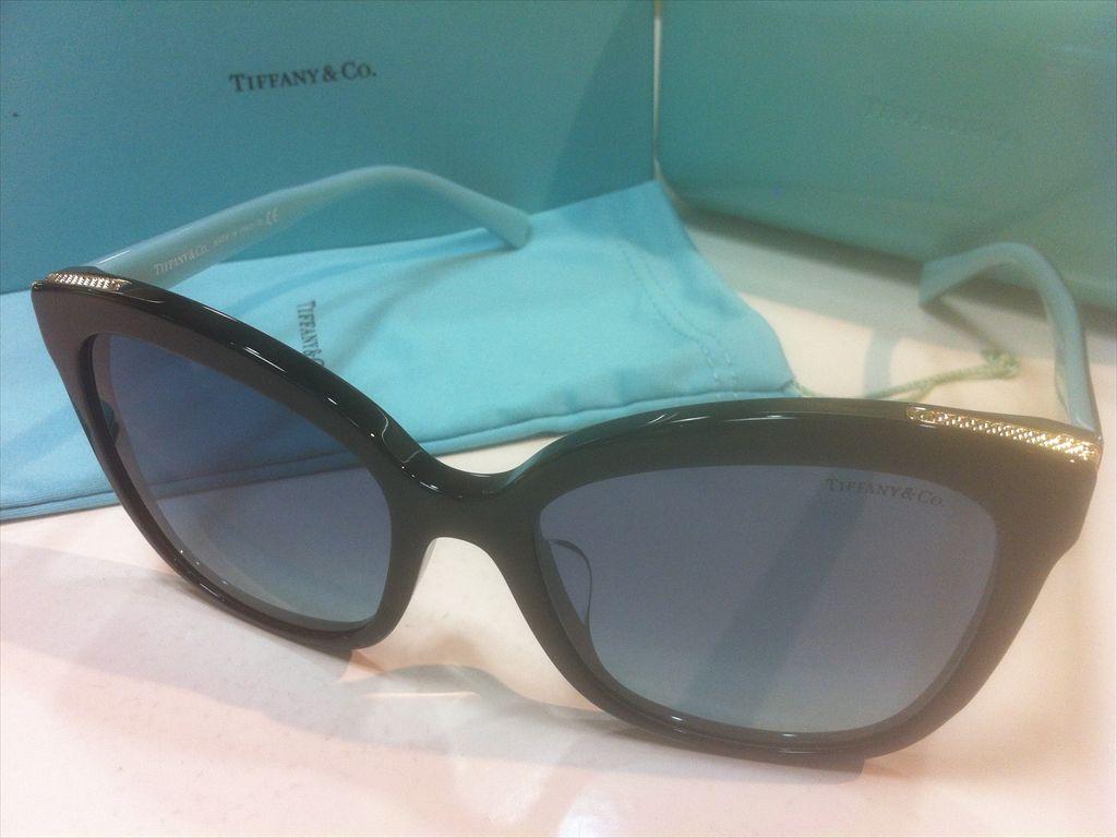 TIFFANY&CO.(ティファニー)TF4150-F 8001/9S(ブラック/ゴールド/ティファニーブルー)55サイズサングラス(セルフレーム)有名ブランドサングラス