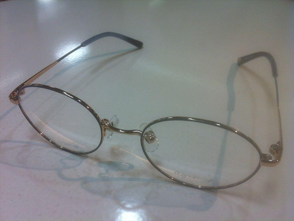 agnes b.(アニエスベー)50-0041 02(ブルー系/ゴールド)48サイズメガネ(メタル)