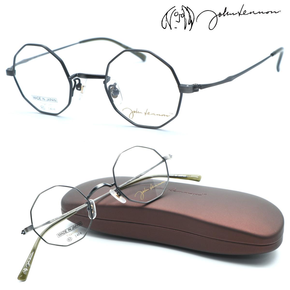 丸メガネの決定版 店頭受取対応商品 john lennon ジョンレノン JL-1087 ファクトリーアウトレット col.4 丸メガネ 日本製 メガネ 店内全品送料無料 特価 度付又は度無レンズセット 正規品