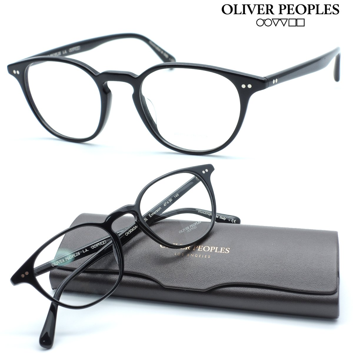 【OLIVER PEOPLES】オリバーピープルズ メガネ OV5062A col.1005L Emerson 度付又は度無レンズ標準装備 【oliver peoples オリバーピープルズ 】【店内全品送料無料】【正規代理店品】クラシック ボストン