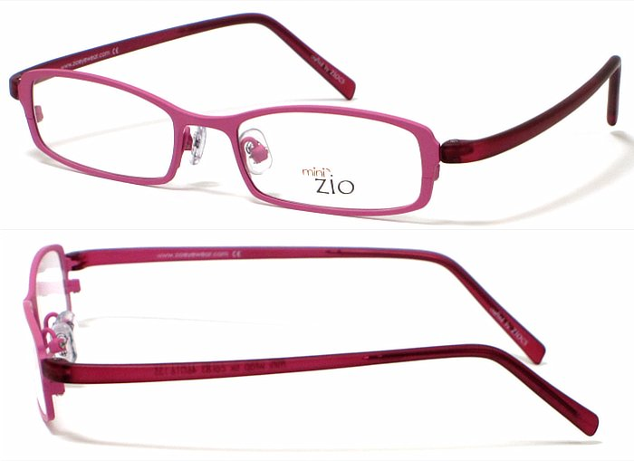 <ジオ> zio キッズ用 メタルフレームメガネ col.83 pink 標準レンズセット  【正規品】【店内全品送料無料】