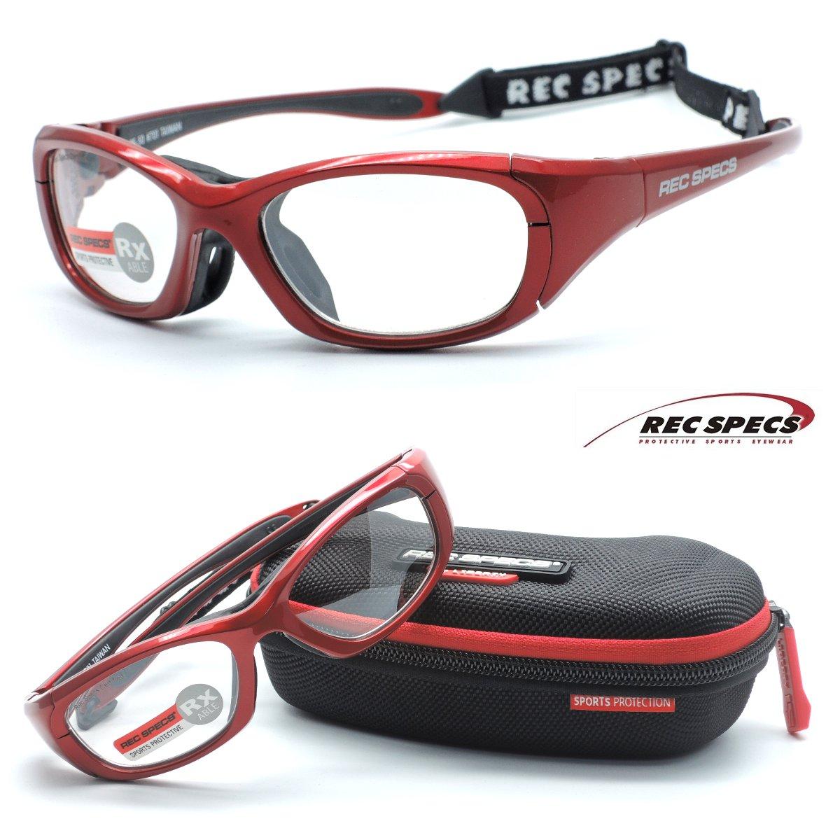 【REC SPECS】レックスペックス RS-50 #701 レッド 子供用スポーツアイウエア 度付レンズ込【正規品】【店内全品送料無料】スポーツゴーグル カッコイイキッズメガネ