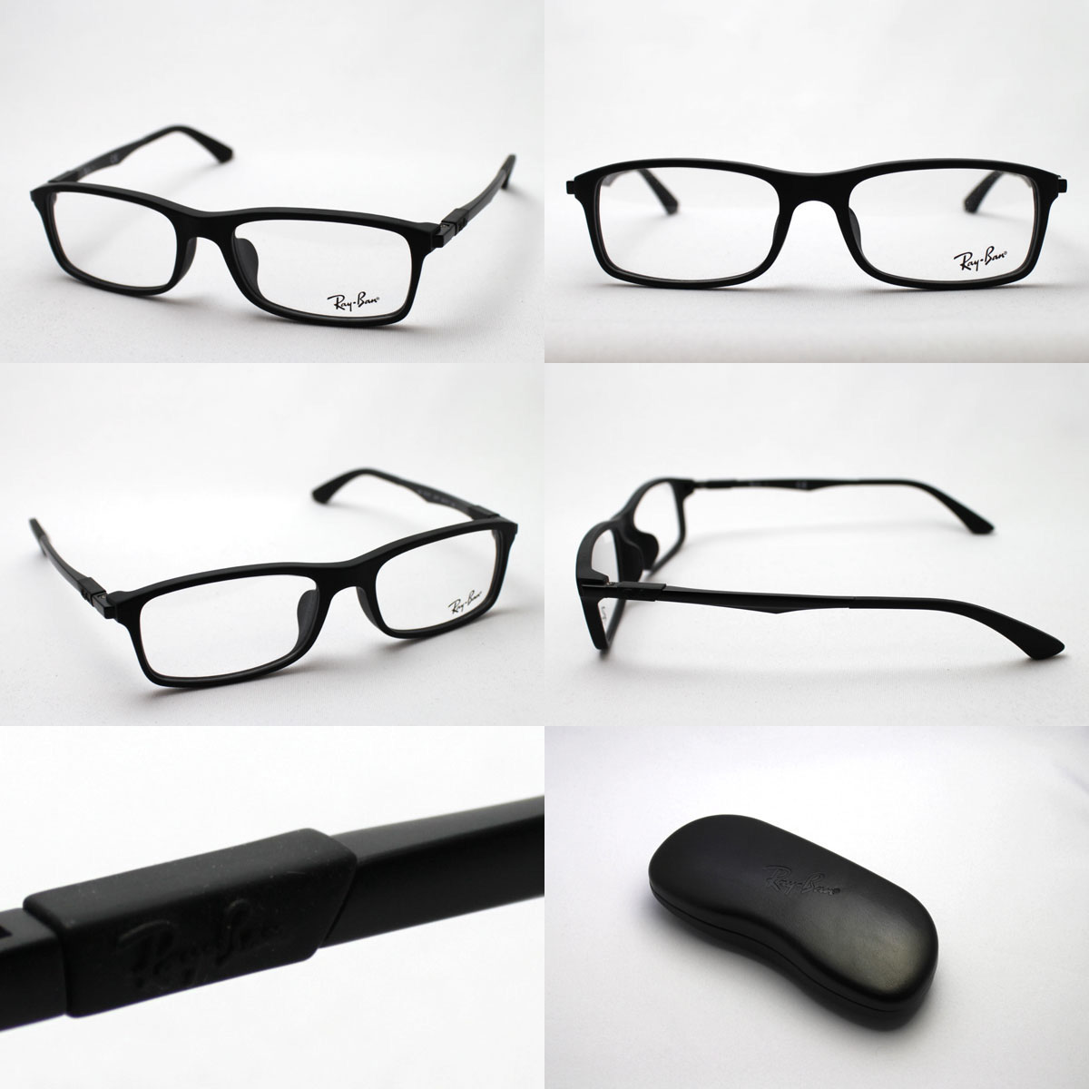 936e1056c9 ... Blue light cut glasses black edge RayBan square with the premium  production end model assortment of