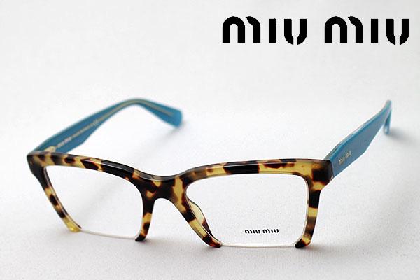 明日の朝9時59分終了 ほぼ全品がポイント15~20倍 【ミュウミュウ メガネ 正規販売店】 miumiu MU04NV 7SO1O1 伊達メガネ 度付き ブルーライト ブルーライトカット 眼鏡 miumiu NewModel Made In Italy スクエア