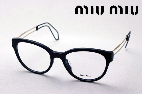 1月25日(金)23時59分終了 ほぼ全品ポイント15倍+5倍 【ミュウミュウ メガネ 正規販売店】 miumiu MU03PVA 1AB1O1 伊達メガネ 度付き ブルーライト カット 眼鏡 miumiu フォックス