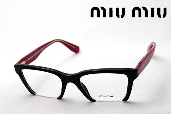 4月5日(金)23時59分終了 ほぼ全品ポイント20倍+5倍+2倍 【ミュウミュウ メガネ 正規販売店】 miumiu MU04NV 1AB1O1 伊達メガネ 度付き ブルーライト カット 眼鏡 miumiu スクエア