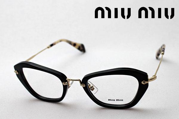 4月5日(金)23時59分終了 ほぼ全品ポイント20倍+5倍+2倍 【ミュウミュウ メガネ 正規販売店】 miumiu MU05NV 1AB1O1 伊達メガネ 度付き ブルーライト カット 眼鏡 miumiu フォックス