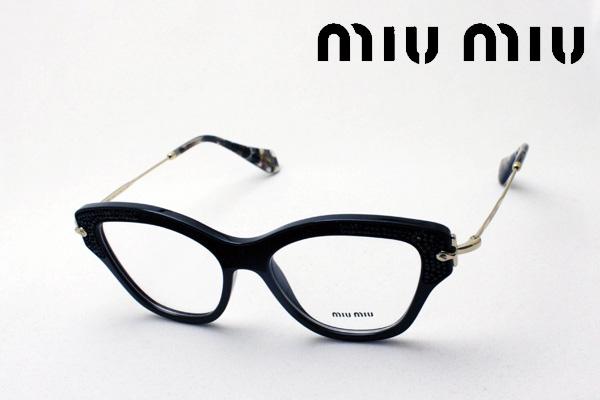 4月4日(木)23時59分終了 ほぼ全品ポイント20倍+2倍 【ミュウミュウ メガネ 正規販売店】 miumiu MU07OV 1AB1O1 伊達メガネ 度付き ブルーライト カット 眼鏡 miumiu フォックス