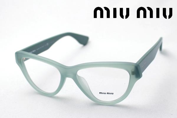 4月5日(金)23時59分終了 ほぼ全品ポイント20倍+5倍+2倍 【ミュウミュウ メガネ 正規販売店】 miumiu MU10NVA TV21O1 伊達メガネ 度付き ブルーライト カット 眼鏡 miumiu フォックス