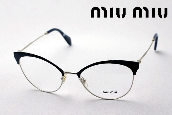 4月5日(金)23時59分終了 ほぼ全品ポイント20倍+5倍+2倍 【ミュウミュウ メガネ 正規販売店】 miumiu MU50PV 1AB1O1 伊達メガネ 度付き ブルーライト カット 眼鏡 miumiu フォックス