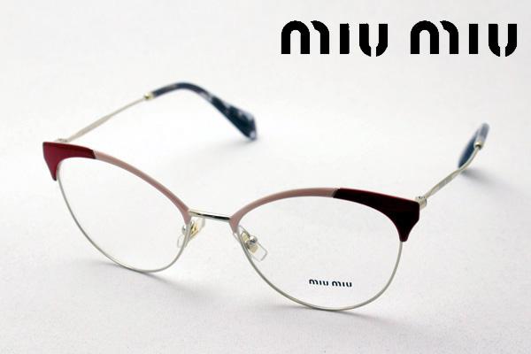 4月5日(金)23時59分終了 ほぼ全品ポイント20倍+5倍+2倍 【ミュウミュウ メガネ 正規販売店】 miumiu MU50PV USP1O1 伊達メガネ 度付き ブルーライト カット 眼鏡 miumiu フォックス